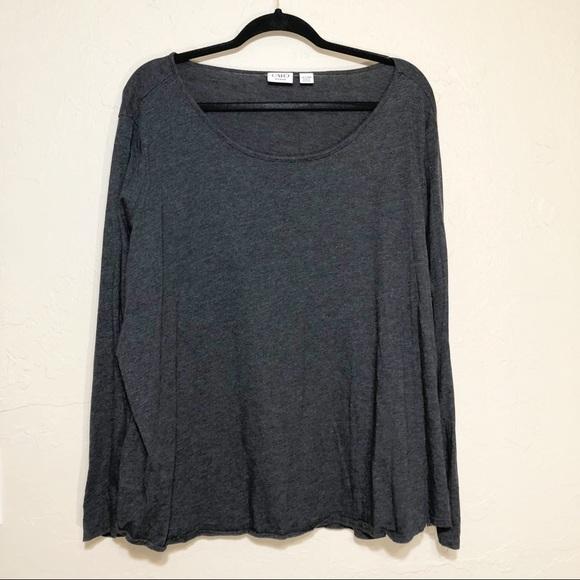 Cato Tops - Cato Grey Long Sleeved T-shirt 26/28W